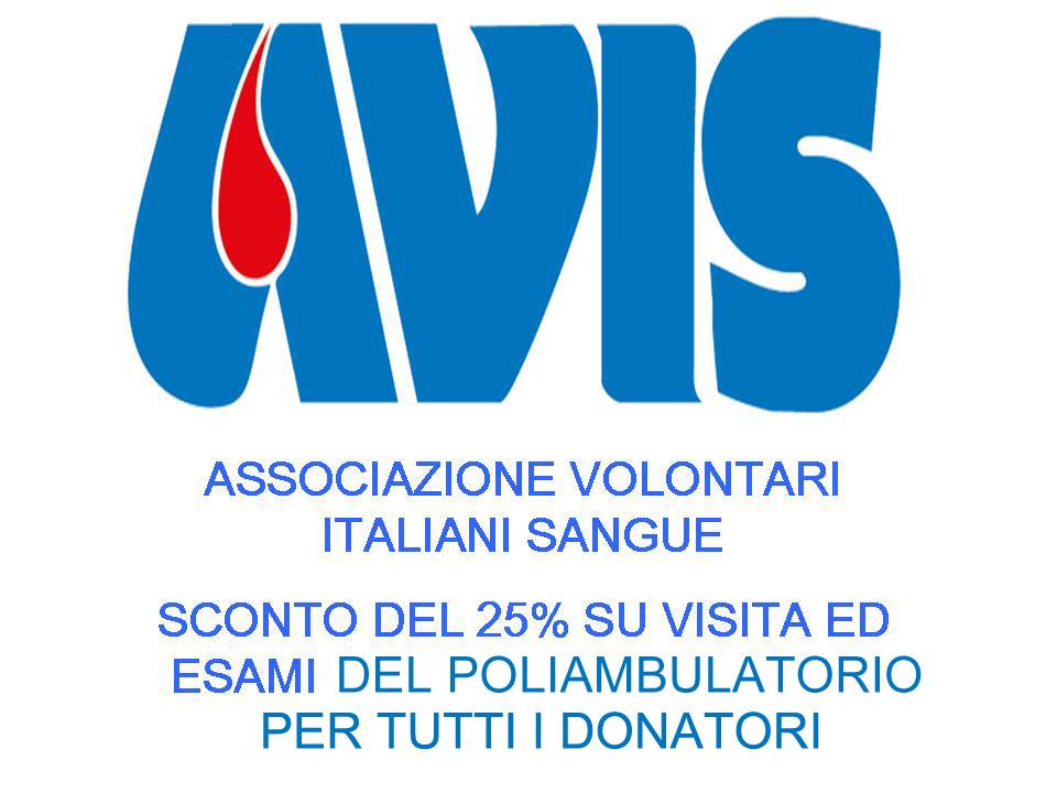 sconto donatori avis
